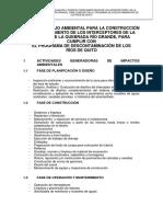 PLAN DE MANEJO AMBIENTAL PARA LA CONSTRUCCIÓN Y FUNCIONAMIENTO DE LOS INTERCEPTORES DE LA CUENCA DE LA QUEBRADA RÍO GRANDE