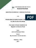 José L. Mandujano R. - Tesis de maestria UH - Problemas de imputación y prueba en delito de colusión - 2017.pdf