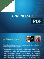 Aprendizaje Vicario o Social
