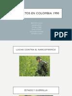 Conflictos en Colombia 1990