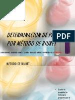 METODO BIURET