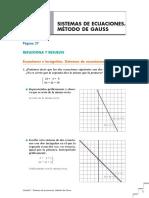 Sistemas, Gauss