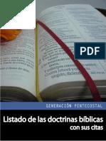 Listado de Las Doctrinas Biblicas