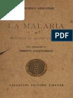 Francesco Genovese, La malaria in provincia di Reggio Calabria, 1924