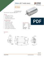 Low-Voltage PMDC Motors 0.7 Watts