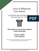 THE EMPIRICAL TURN IN INTERNATIONAL LEGAL SCHOLARSHIP