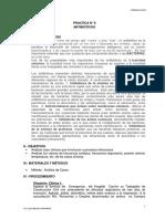 PRÁCT. N° 9 FARMACOS ANTIBACTERIANOS