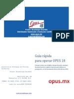 Guia Rapida Opus 18 07 de Noviembre Del 2019