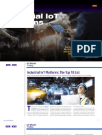IoT World Today - Industrial IoT Platforms the Top 10 List