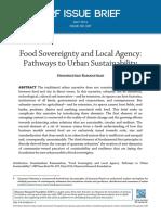 Soberania Alimentar e Agência Local_caminhos Para a Sustentabilidade Urbana