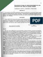 Vazquez Leiva and Weaver 1980 Un Analisis Osteologico Para El Reconocimiento de Las Condiciones de Vida en Sitio Vidor