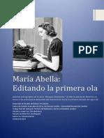 María Abella - Editando La Primera Ola