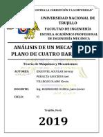INFORME N°05 LABORATORIO DE MÁQUINAS Y MECANISMOS - ANÁLISIS DE UN MECANISMO PLANO DE CUATRO BARRAS (I)