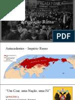 Revolução Russa  (1917)- apresentação em Power Point