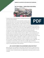 Lectura n 1 Identidad Cultural y Realidad Nacional San Marcos 2019 Dr Quiroz
