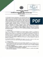 Edital de 2020 Unizambeze