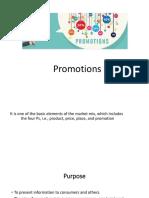 Promotion Presentation