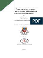 Type and origens of Quartz in porphyry