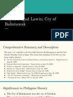 Cry of Balintawak or Pugad Lawin