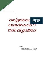 Origen y desarrollo del Álgebra