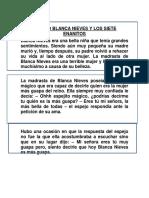 Cuento Blanca Nieves y Los Siete Enanitos