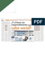 Emprendimiento Con Valor Social Diario El Comercio 21.11.2010