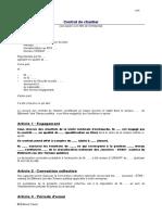Modele de Contrat Conclu Pour La Duree d Un Chantier