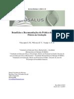 Artigo - Gestacao - Beneficios e Ercomendacoes a Pratica de