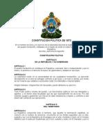 Constitución de la República de Honduras 1873