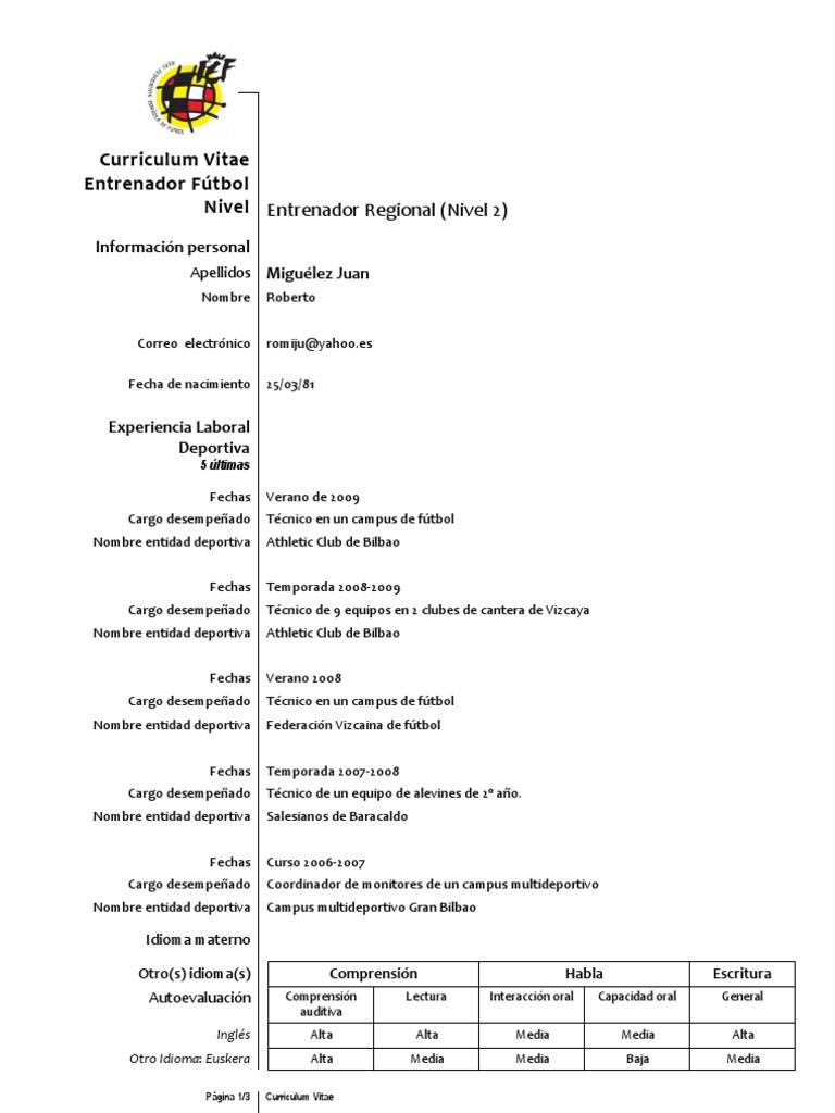CV Deportivo Roberto Miguélez