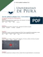 Examen Admisión UDEP 2018