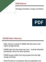 DRAM terminology and basics, energy innovations