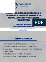 Comercia Consulting Clasif Arancelaria y Drawback