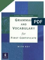 Grammar and Vocabulary for FCE Longman