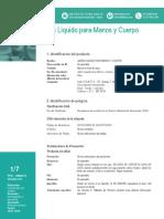 Jabon Liquido Para Manos Serviclean-FDS