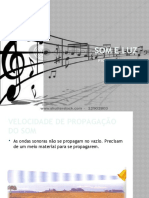 Som e Luz - 6 - Propagação do som