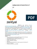 Instalación y Configuración de Zentyal Server 5