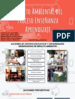 Impacto Ambiental Proceso Enseñanza-Aprendizaje