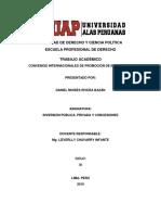 Convenios Internacionales de Promoción de Inversiones
