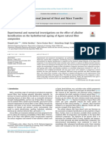 Experimental and numerical investigations on the effect of alkaline hornification on the hydrothermal ageing of Agave natural fiber composites