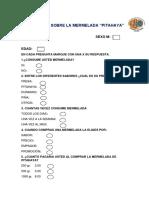 Encuesta Sobre La Mermelada de pitahaya