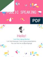 1. Public Speaking