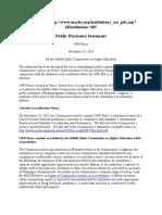 Public Disclosure Statement Nov 18 2010