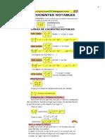 Formulario cocientes notables