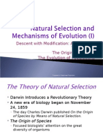 Natural Selection and Mechanisms of Evolution (I)