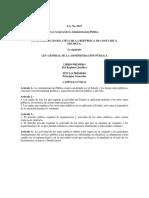 Ley General de Administración Pública