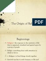 The Origin of Religion Ppt
