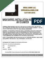 Mega Arms Maten 308 Mkm Barrel Installation Instructions