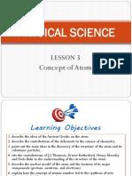 Physci Lesson 3 Atoms