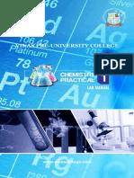 PU Chandigarh Chemistry Practical 2019- 2020